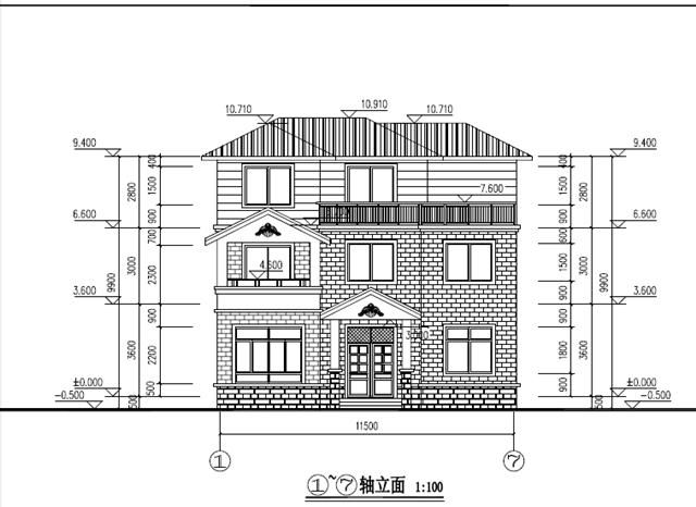 新农村三层房屋设计cad施工图纸, 经典实用, 你值得拥有!
