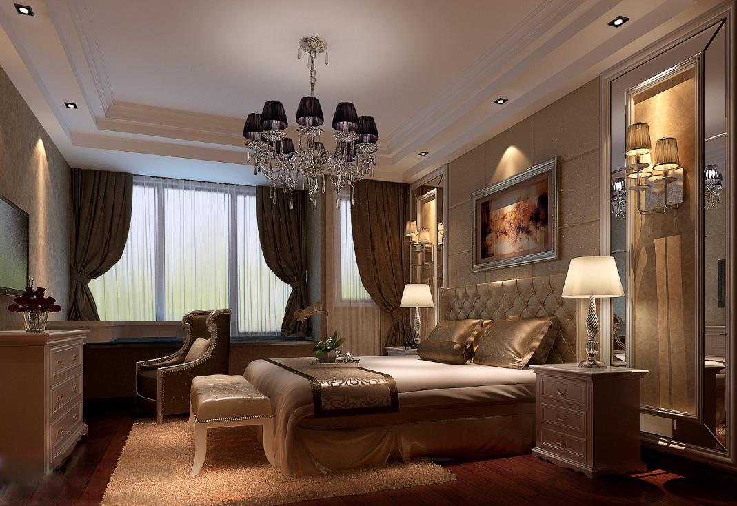 装修风格:五室三厅 小区户型:202平 装修造价:52万 郑州装修普罗旺世