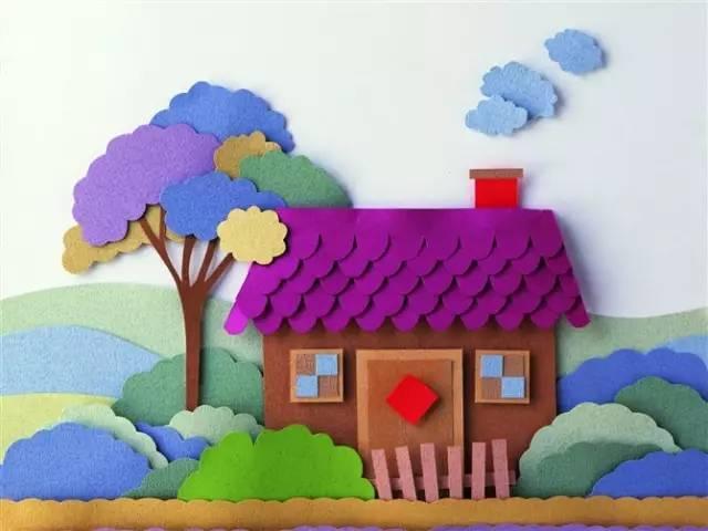 幼儿园创意墙面手工粘贴画,让教室美如画!图片