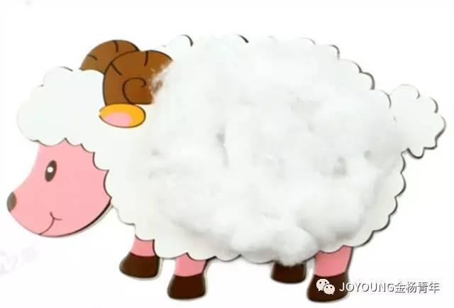 亲子手工制作可爱小羊