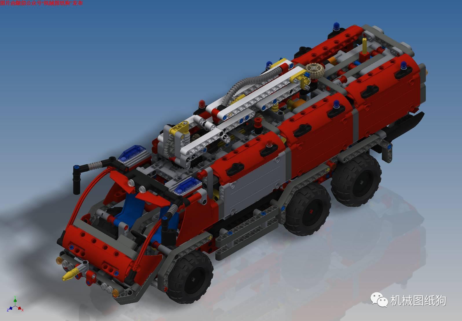 【工程机械】机场救援车拼装玩具模型3d图纸 inventor