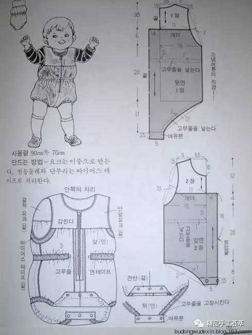 实用·一大批婴儿衣服裁剪图纸