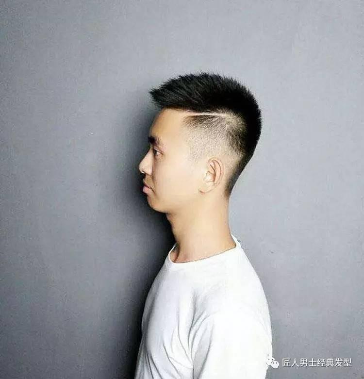 男士发型两边剃短 精神帅气图片