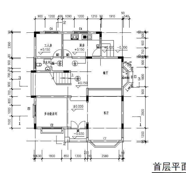 三层别墅外观效果图面积100-120平方的农村2-3层小别墅设计.