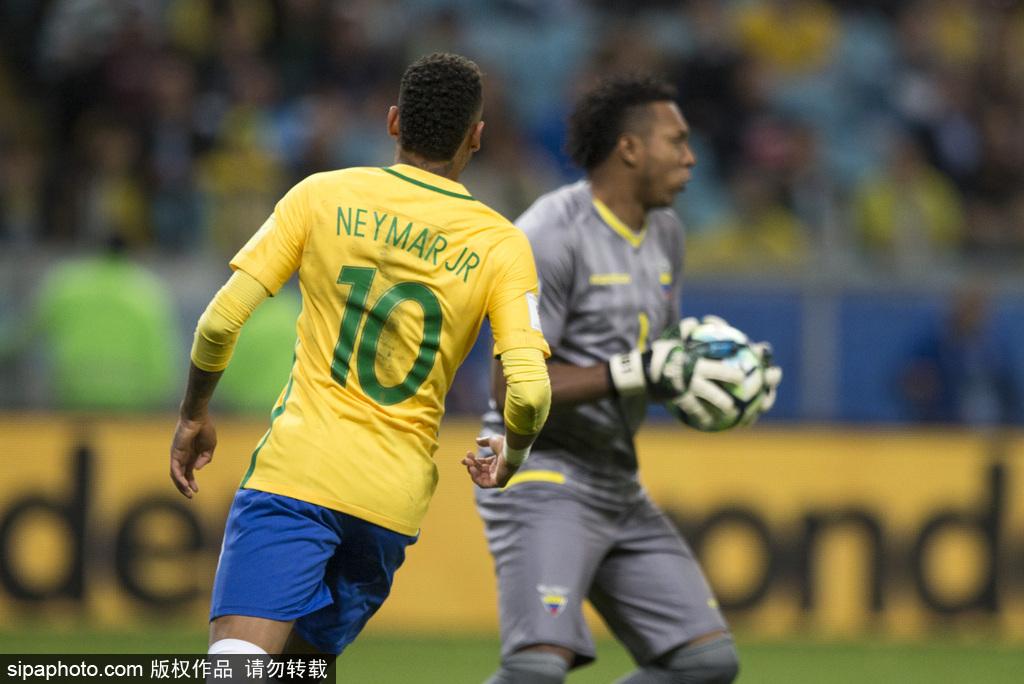 世预赛-暴力鸟破僵库鸟锁胜局 巴西2-0厄瓜多尔
