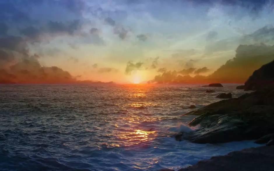 古风晨曦美景·手绘图