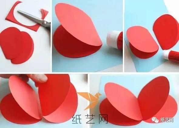 幼儿手工制作可爱立体水果教师节贺卡教程图解