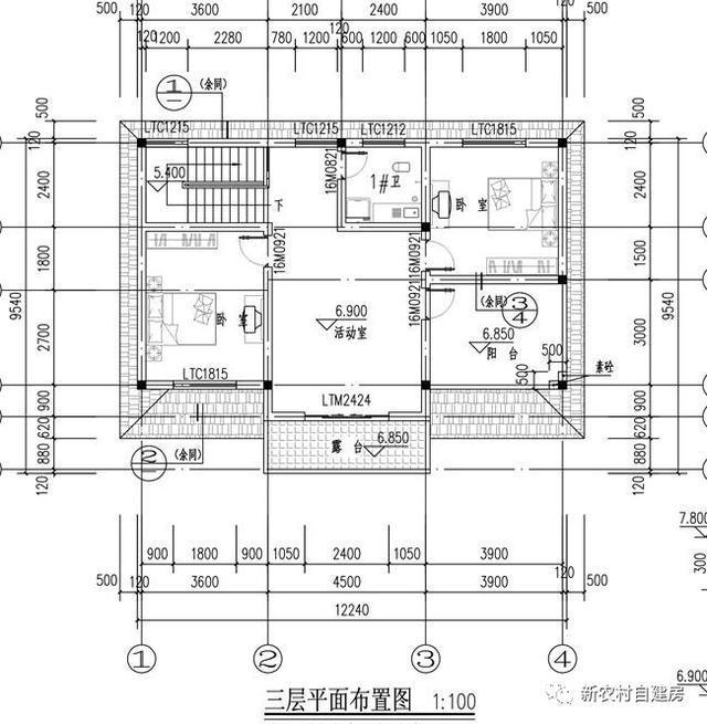 12x10米农村自建房,三层效果刚刚好,不服都不行