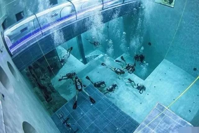 世界最深的泳池——Y40