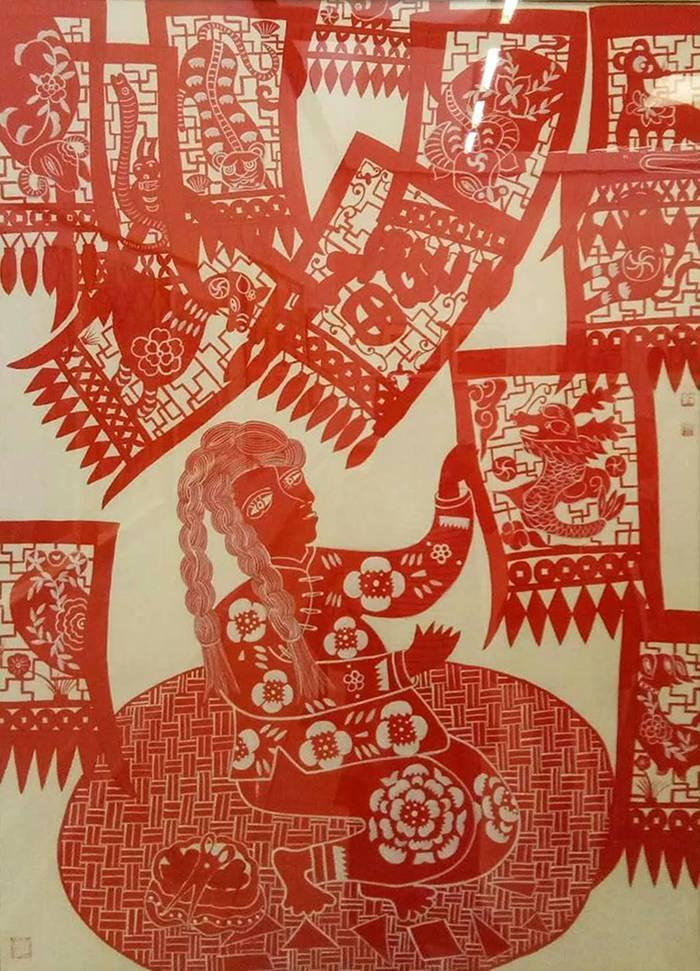 中国梦主题剪纸展