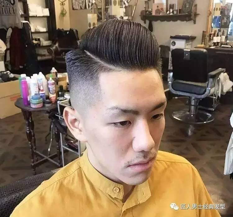 两边剃短的男士短发,清爽精神帅气,中间部分可倒梳可侧分,背头飞机头图片