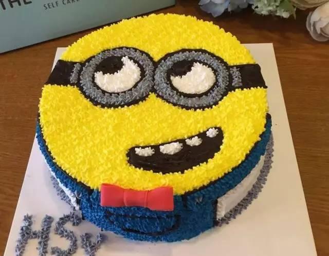 小黃人蛋糕diy圖片