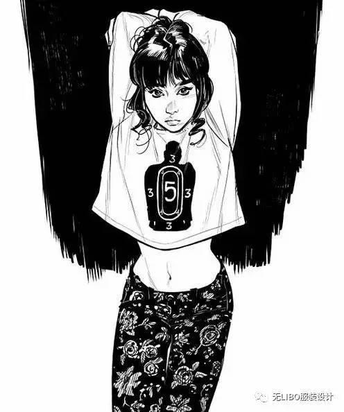 黑白女装效果图80例(线稿/黑白的多彩世界)