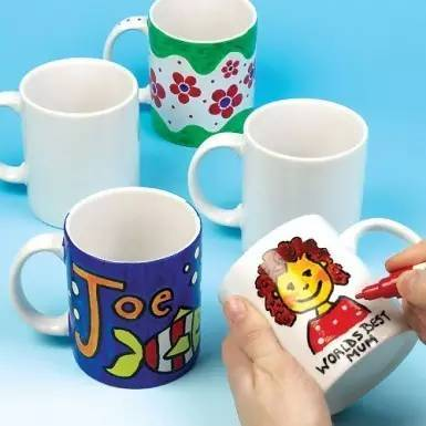 diy手绘茶杯图案素材
