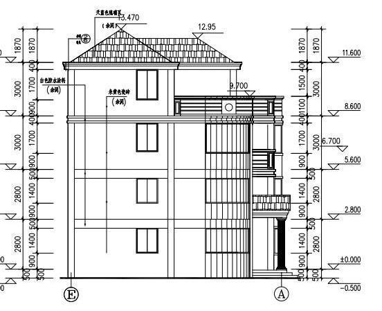 12x12米4层农村自建房,造价40万,含平面和立面图