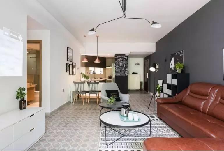 90平北欧风格装修效果图,他把咖啡厅搬进了家.图片