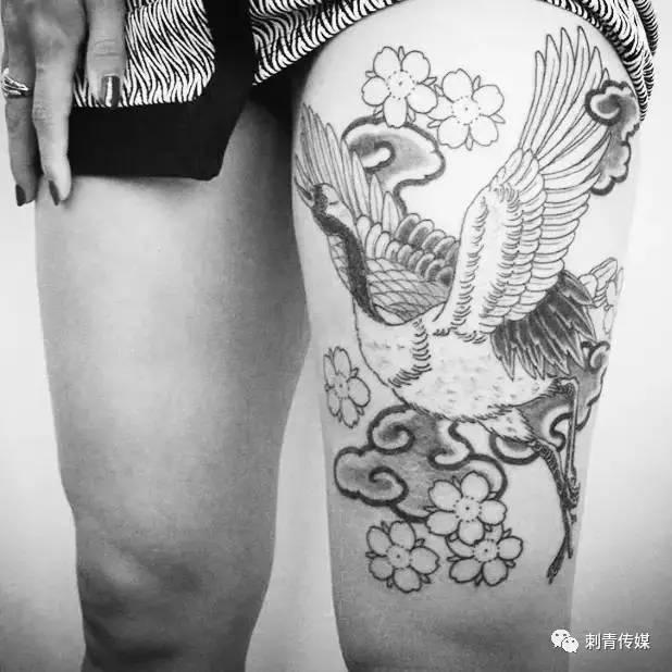 仙鹤纹身 | 寓意吉祥