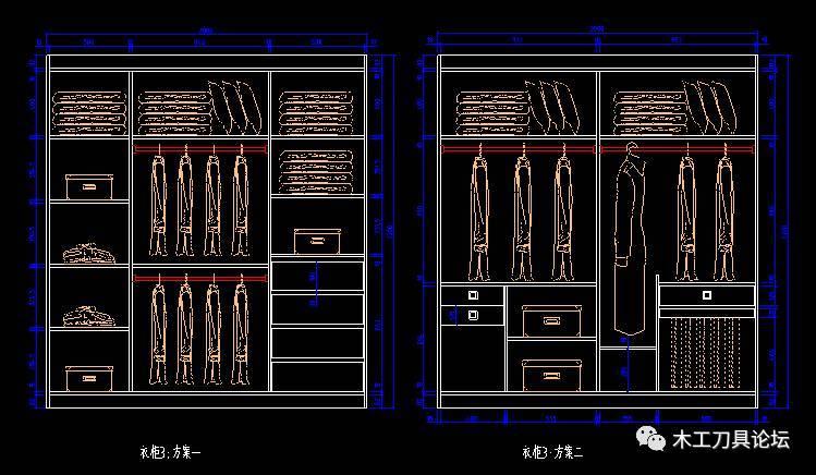 78款衣柜设计CAD详图 CAD家具整体衣柜设计详图