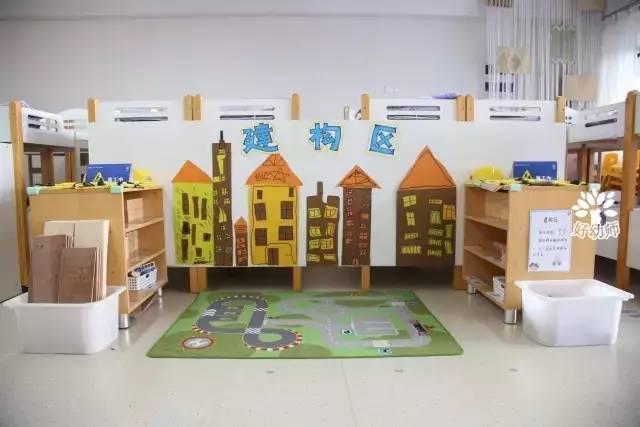 吊饰: 主题墙: 因为建构区需要的空间相对较大,所以我们最好给孩子们图片