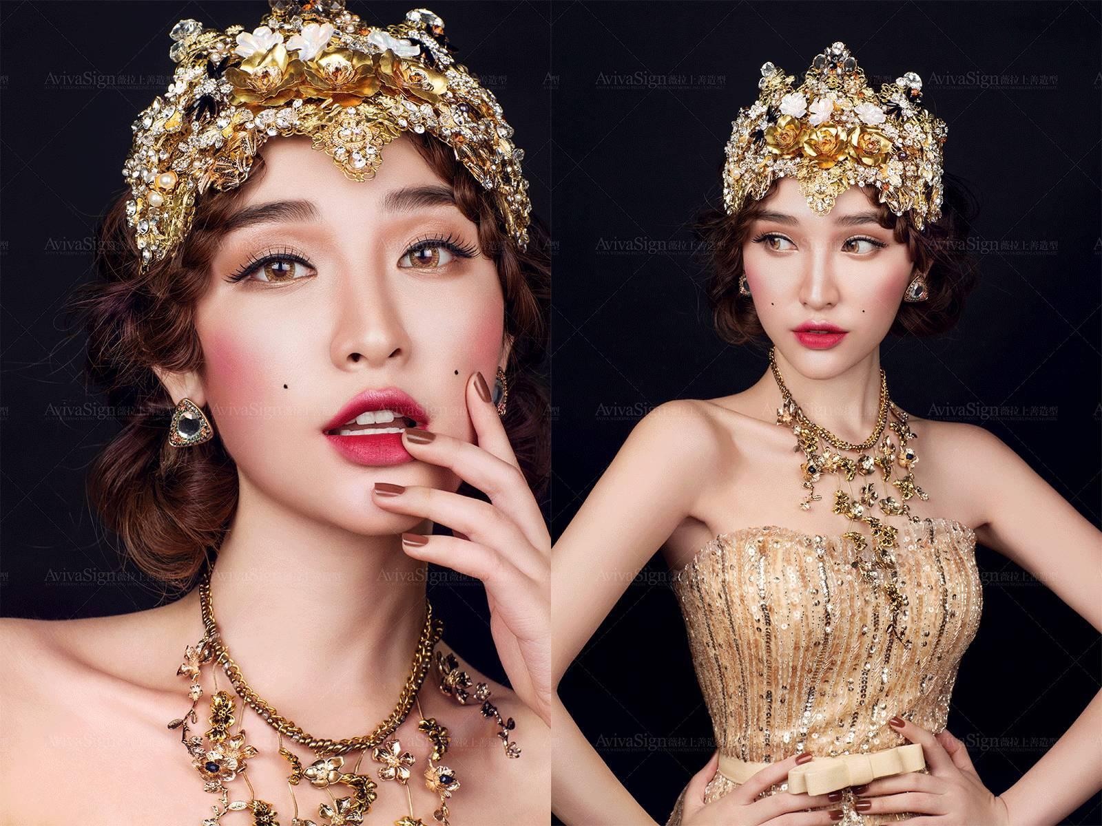 上善tip#上善女王,皇冠造型加冕复古新娘的宫廷梦想图片