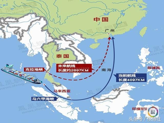 泰国克拉运河将取代新加坡马六甲海峡 最大的受益者将会是中国图片