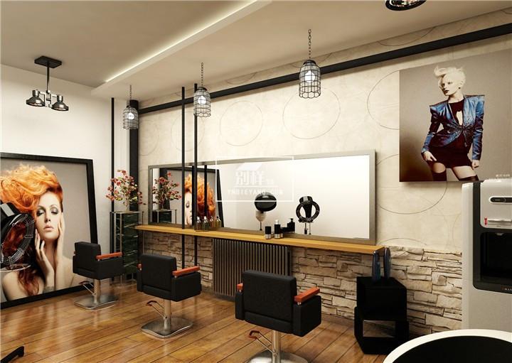 昆明世纪城美发店装修案例图片