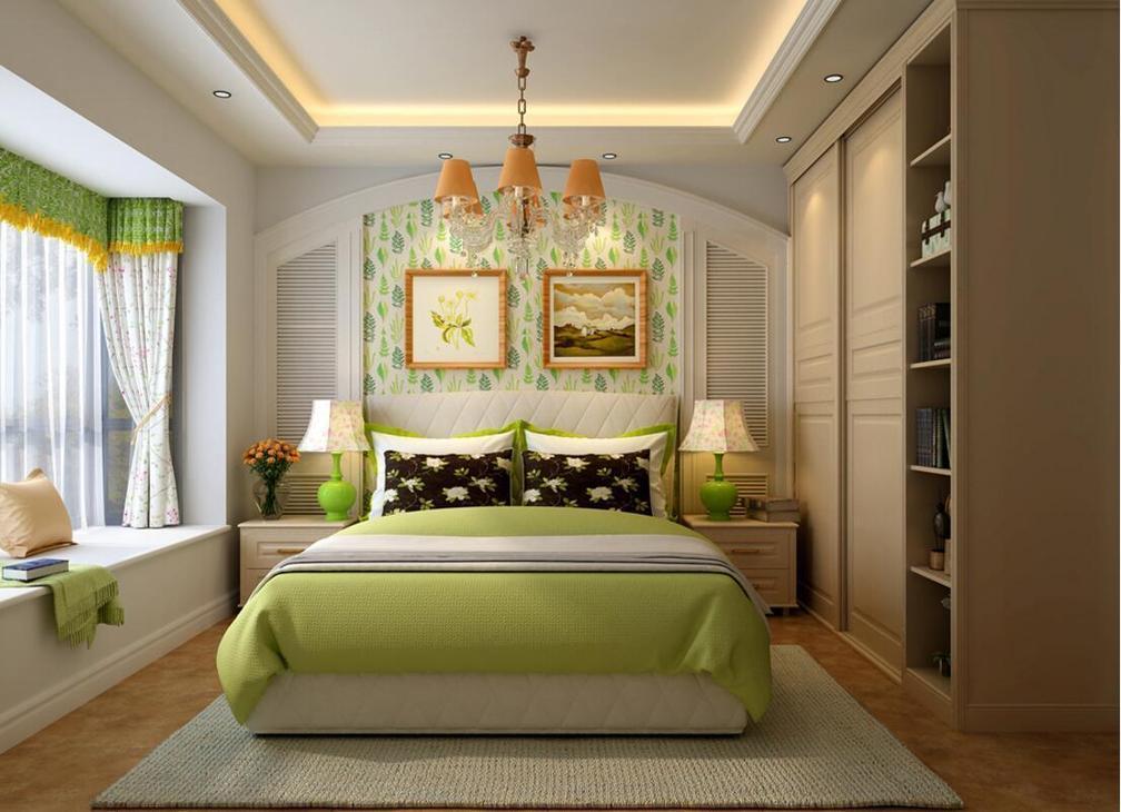 三室两厅欧式田园风格装修效果图
