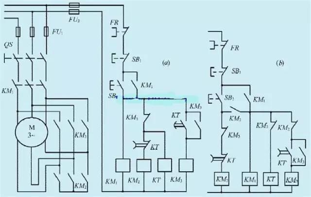 星形三角形自动切换启动电路图