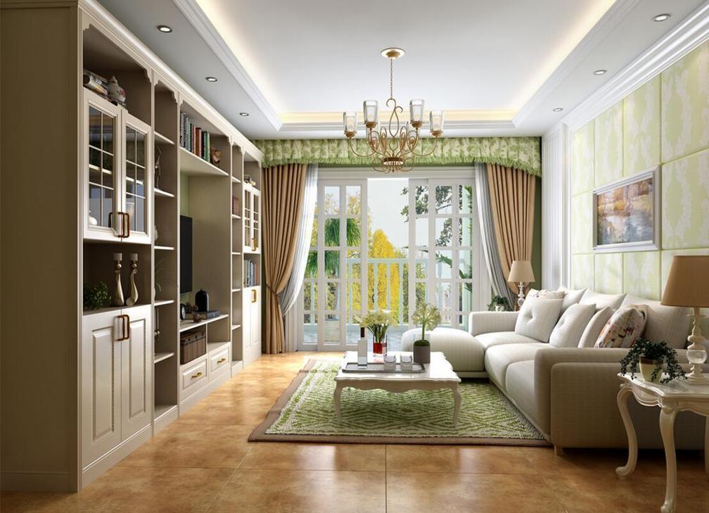 三室两厅欧式田园风格装修效果图图片
