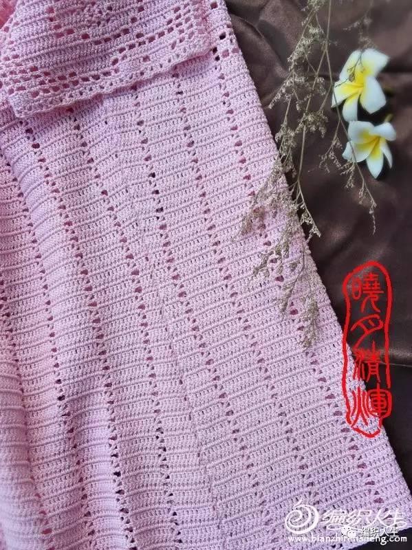 简约唯美的钩针方格玫瑰花套头衫(附详细自绘改版图解)