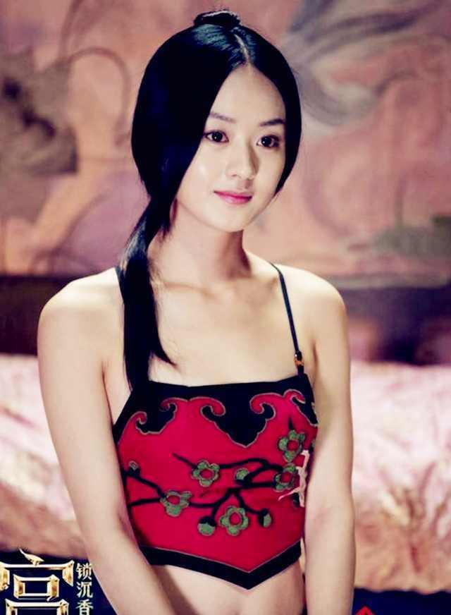 娱乐圈穿肚兜最美女星,杨颖妩媚,赵丽颖清纯,杨幂性感