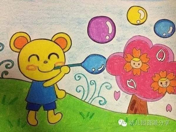 新学期幼儿园蜡笔画范画,小朋友们的最爱!_突袭搞笑_突袭网