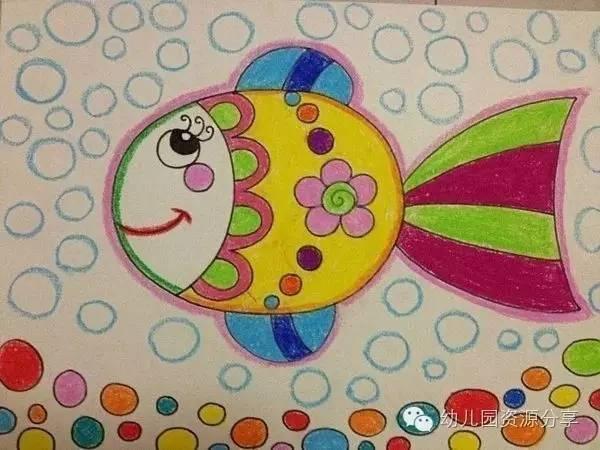 新学期幼儿园蜡笔画范画,小朋友们的最爱!图片