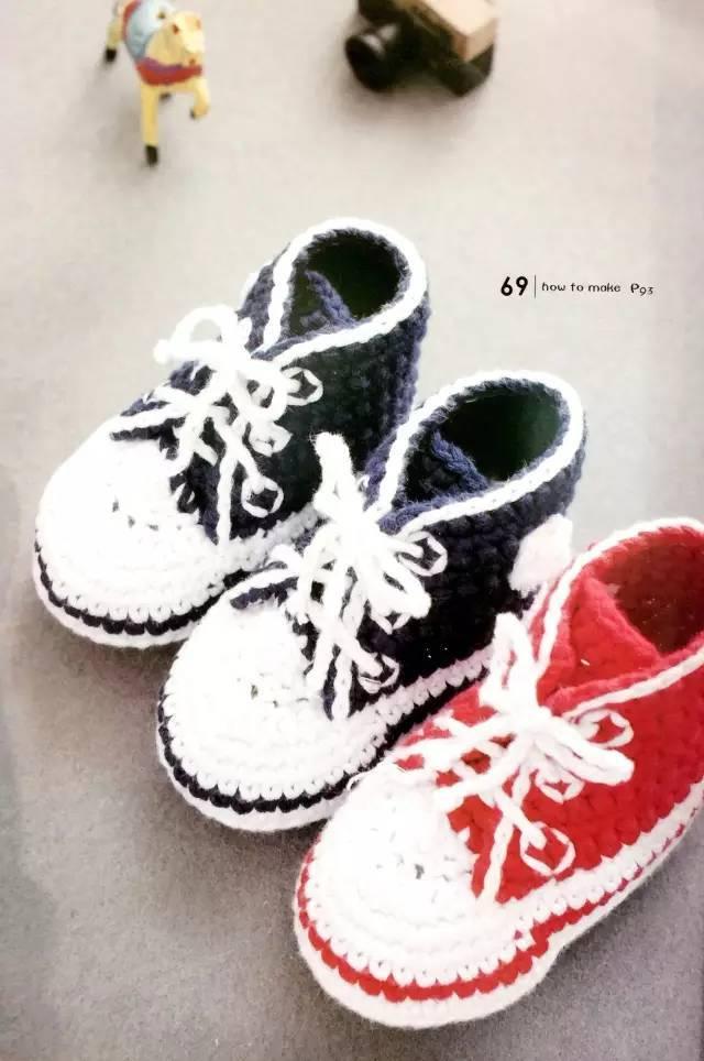 宝宝童鞋 钩针编织图解
