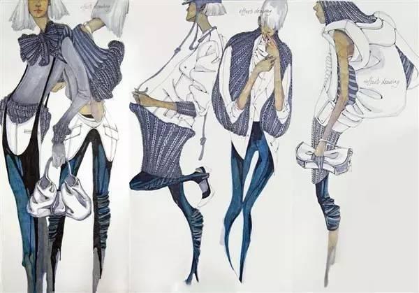 """服裝設計效果圖表現與""""水彩畫技法"""""""