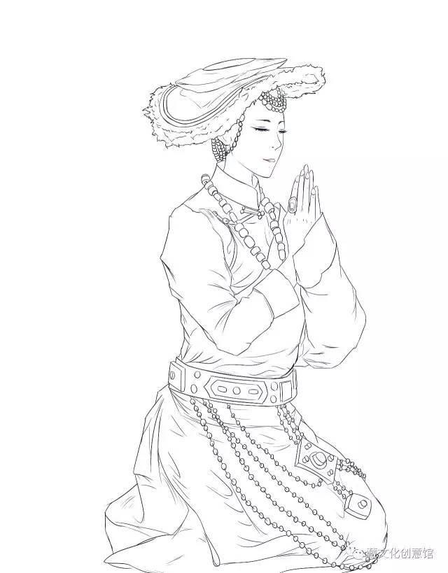最新藏式二次元美女头像,撩你来了!