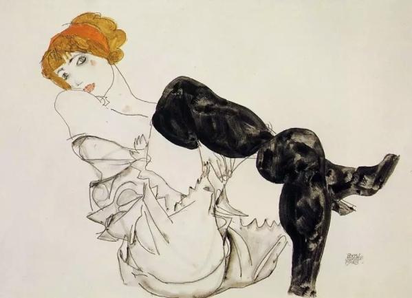 艺术 席勒// 埃贡席勒画笔下的女人们