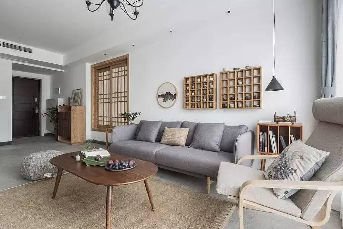 轻奢清新,日式混搭北欧丨这个98㎡小家,由奶爸亲自设计!图片