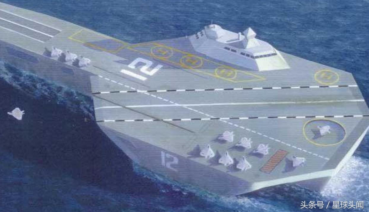超乎想象的英国三体航母概念设计 舰载机设计带有六代机痕迹!