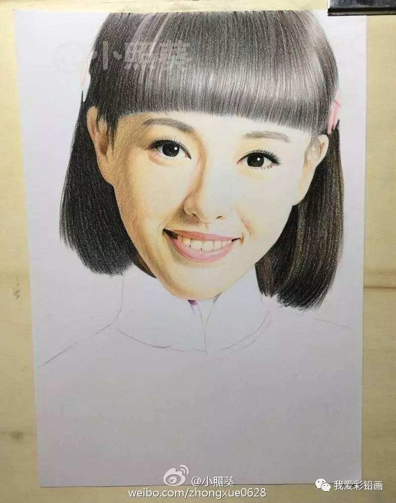 彩铅手绘~唐嫣(乱世佳人剧照)