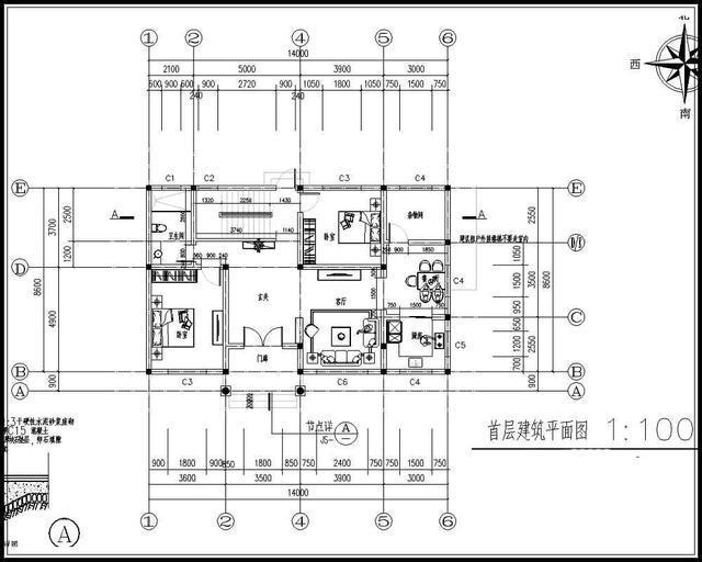 14x9米农村二层房屋设计图,8间卧室,20万左右_突袭科技_突袭网