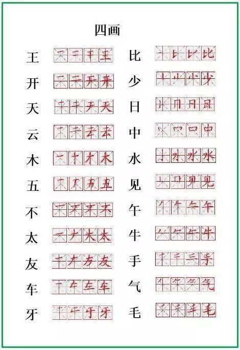 笔顺正确写法,很全面 建议老师和家长收藏 附一年级 生字笔顺表