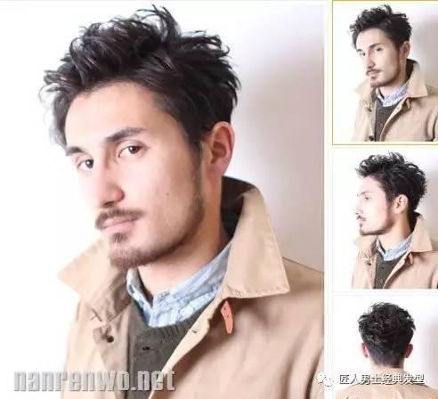 三七分刘海的发型很有其八十年代的风格,加上凌乱随性的发蜡造型很有图片
