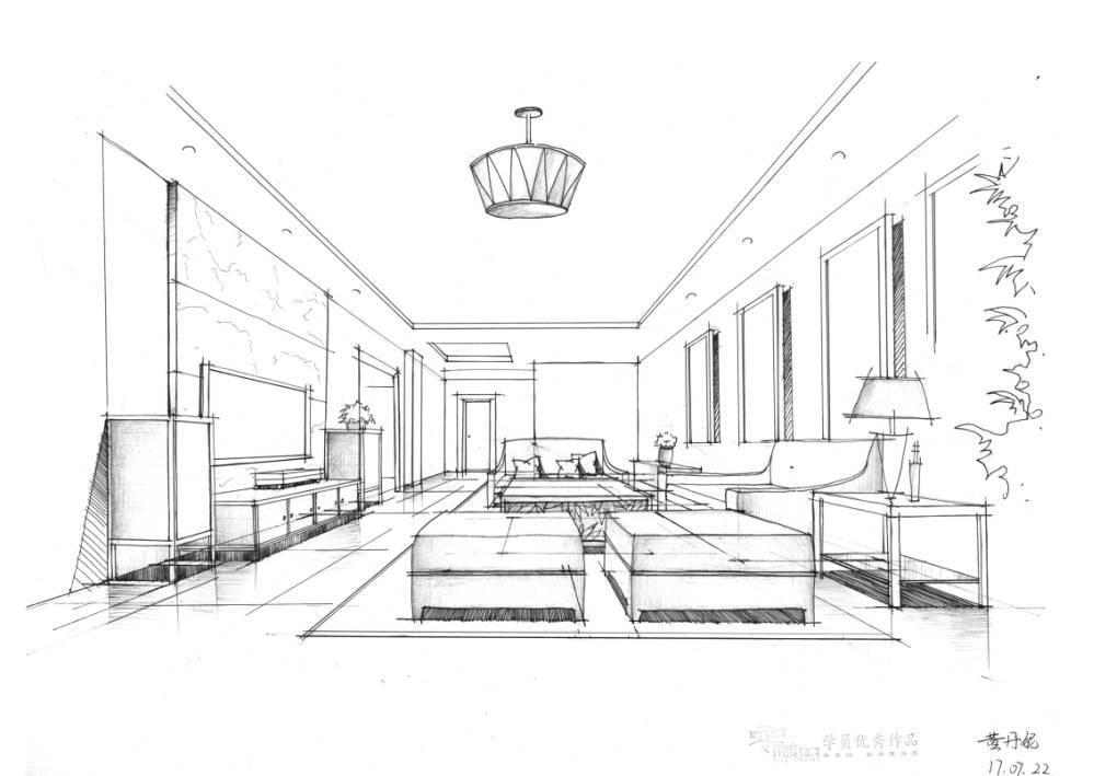 室内设计手绘优秀作品