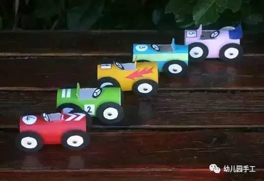 幼儿园汽车手工,汽车玩教具制作教程图解图片