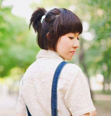 8款超好看洋气的学生扎短发发型!图片