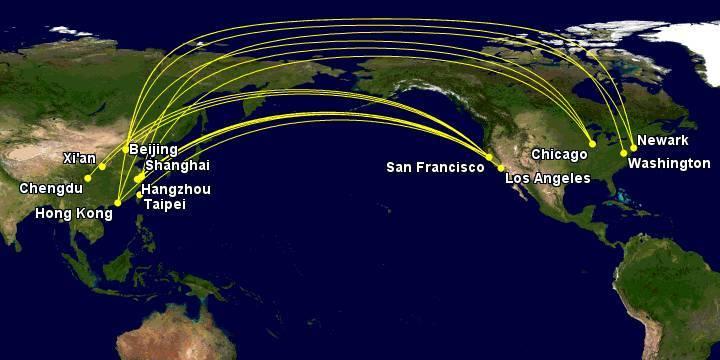 北美至中国直飞航线总结及所需里程图片