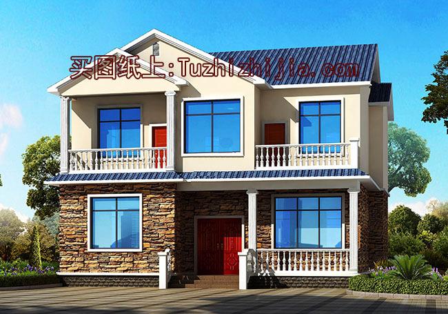 120平二层别墅房屋cad设计图,借钱都要盖的户型!