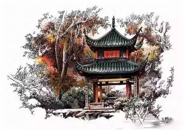 中国古建筑和民居-钢笔画