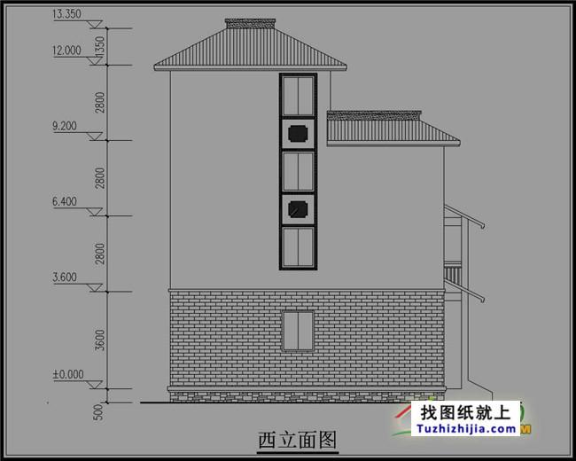140平方米新农村四层房屋设计图纸,在农村建在合适不过了!